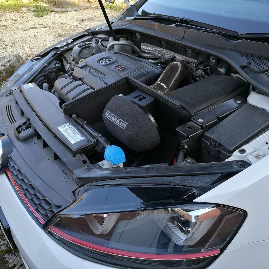 ASPIRAZIONE DIRETTA RAMAIR PER VW GOLF 7 2.0 GTI (MANICOTTO NERO)