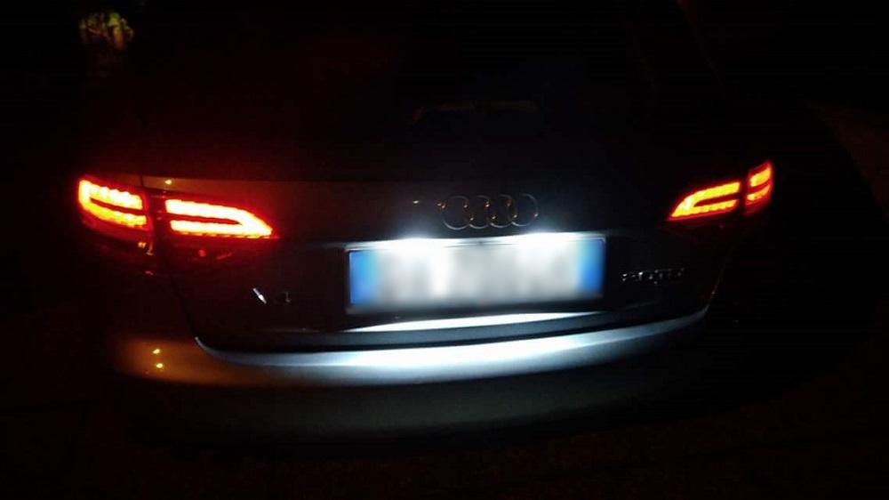 KIT LUCI TARGA LED CANBUS AUDI A4 B8