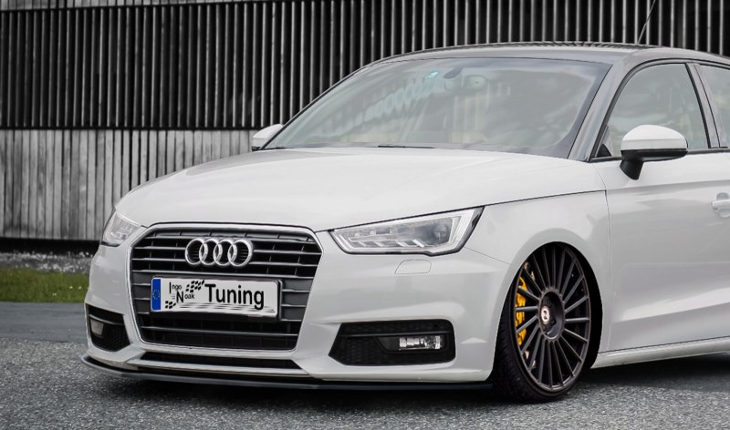 LAMA SOTTOPARAURTI ANTERIORE AUDI A1 8X RESTYLING NO S-LINE CARBON LOOK INGO NOAK TUNING